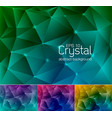 crystal abstract background 7 vector image vector image