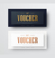 design of a gift voucher with golden text and vector image