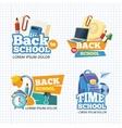Design template with school emblem sets vector image vector image