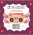 disco tape recorder to music festival vector image vector image