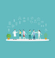 doctor health medical team together discussion vector image vector image