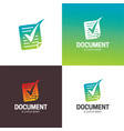document and check mark logo and icon vector image