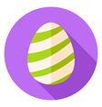 Easter Egg with Striped Decor Circle Icon vector image vector image