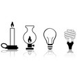 evolution lights vector image vector image