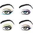 Eye make up stylized pattern sketches set vector image vector image