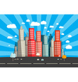 Flat Design City vector image vector image