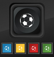 football icon symbol Set of five colorful stylish vector image vector image