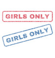 girls only textile stamps vector image vector image