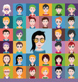group people men and women avatar icons vector image vector image