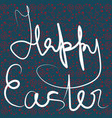 happy easter abstract sign on pattern background vector image