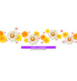 happy summer floral abstract pattern with bud of vector image vector image