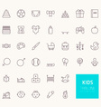 Kids Outline Icons for web and mobile apps vector image vector image