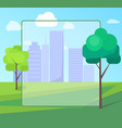 landscape scenery of city park with green trees vector image vector image