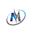 letter m business vector image