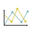 line diagram icon flat vector image