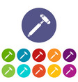medical mallet icon simple style vector image vector image