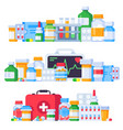 medications medicine pills pharmaceutical vector image