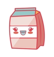 milk box carton kawaii style isolated icon vector image