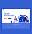 modern flat web page design template concept vector image