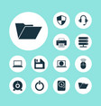 notebook icons set collection of printing machine vector image vector image