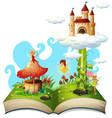 open book fairy tale theme vector image