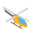 Orange helicopter icon isometric 3d style vector image vector image