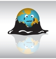 Planet earth sadness crisis oil vector image