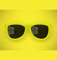 realistic yellow sunglasses vector image