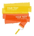 roller brush background for text vector image vector image