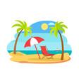 seaside seashore sunny beach vector image vector image