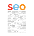 SEO word abstract vector image