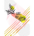set of creative cards and posters with geometric vector image vector image