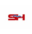 SH letters logo vector image