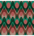 Simple christmas scalloped circle seamless pattern vector image vector image