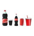 soda water in a bottle glass jar glass bottle vector image