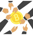 struggle for bitcoin vector image vector image