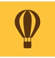 The air balloon icon Aerostat symbol Flat vector image