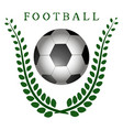 the theme football vector image vector image