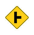 usa traffic road signs side road intersection vector image vector image