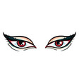 vampire eyes hand drawn design on white vector image vector image