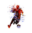 watercolor silhouette soccer vector image vector image