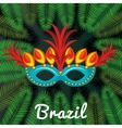 welcome to brazil poster vector image vector image