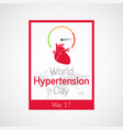 world hypertension day icon vector image vector image