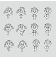 Group of happy children boy and girl emotions vector image