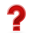 solution search question mark isolated 3d design vector image