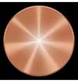 Realistic copper button eps10 Isolated vector image