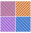 Set of 4 seamless pinstripe pattern vector image