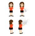 woman brunette paper vector image