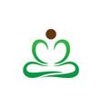 yoga meditation logo image vector image
