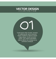 text balloon design vector image